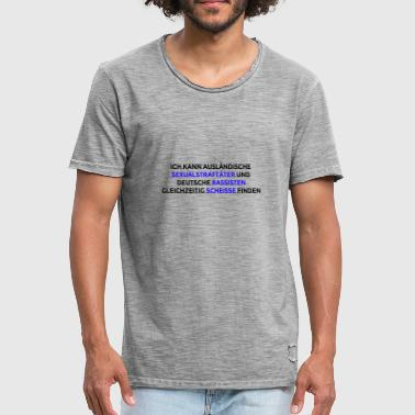 Sex Offender Against racism and sexism - Men's Vintage T-Shirt