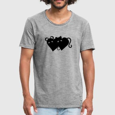 Merge Cat and mouse merged - Men's Vintage T-Shirt