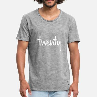 Number-20-twenty 20 twenty birthday gift number twenty - Men's Vintage T-Shirt