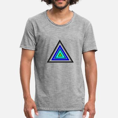 Triangle Triangles in triangle - Men's Vintage T-Shirt