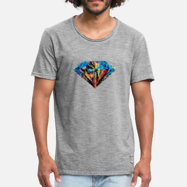 Diamond Supply Diamant abstrait - T-shirt vintage Homme