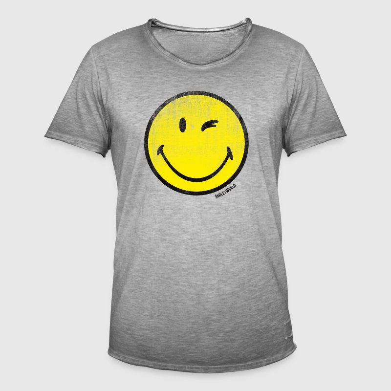 SmileyWorld Classic Winking Smiley - Vintage-T-shirt herr