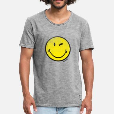 Wink SmileyWorld Classic Winking Smiley - Men's Vintage T-Shirt