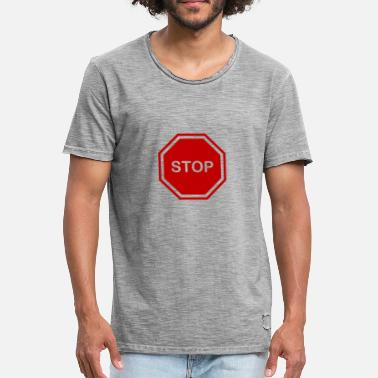 Stop Sign stop sign - Men's Vintage T-Shirt