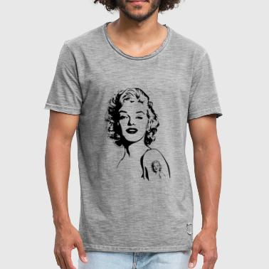 icon - Vintage-T-skjorte for menn