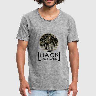 Hacka planet motto T-shirt Camouflage - Vintage-T-shirt herr