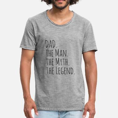 Myth Dad the Man, Myth, Legend - Männer Vintage T-Shirt