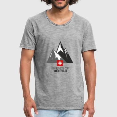 Over the Mountains - Männer Vintage T-Shirt