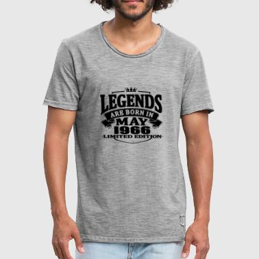 Legends are born in may 1966 - Men's Vintage T-Shirt