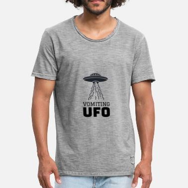 Scully UFO Alien motif - Men's Vintage T-Shirt