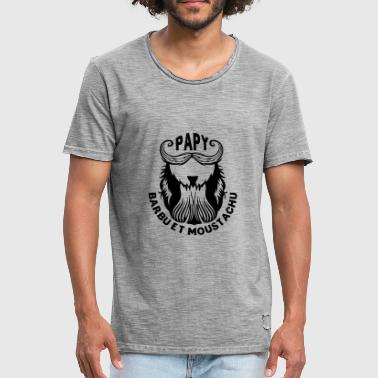 Papy Barbu papy papi barbu moustachu barbe moutache - T-shirt vintage Homme
