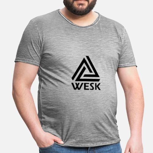 WESK Vaatteet - Miesten vintage t-paita. Takaa. Takaa. Grafiikka. Edestä.  Edestä ae823e4ca6