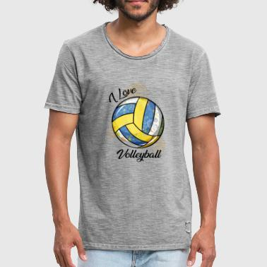 I Love Volleyball I Love Volleyball - Camiseta vintage hombre