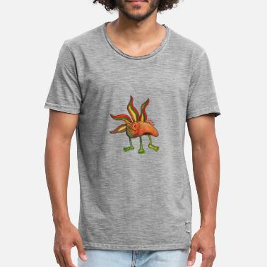 Weed Cartoon creative cartoon - Men's Vintage T-Shirt