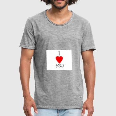 I Love You Vriendin I LOVE YOU - Mannen Vintage T-shirt