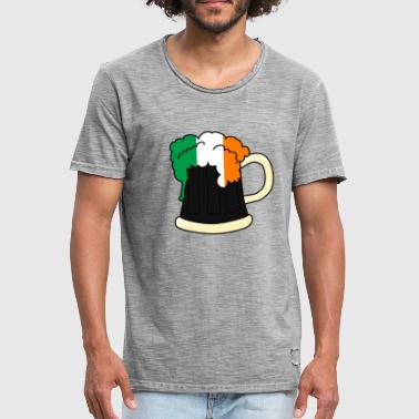 IRLAND. Shamrock Irish Shamrocks - Vintage-T-skjorte for menn