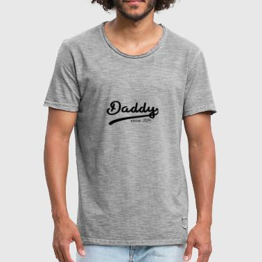 Daddy Since 2014 DADDY SINCE 2014 FATHER'S PAPA GIFT FAT - Men's Vintage T-Shirt