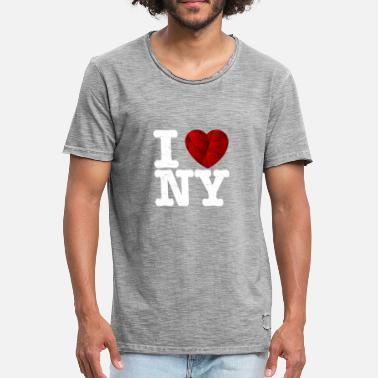 I Love New York I love New York, t-shirt - coeur d'amour cadeau - T-shirt vintage Homme