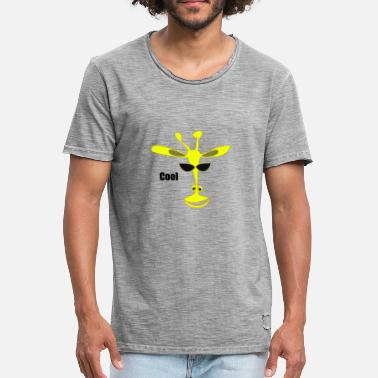 Cool Giraffe The cool giraffe - Men's Vintage T-Shirt