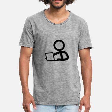 Notebook Stickman on the notebook - Men's Vintage T-Shirt