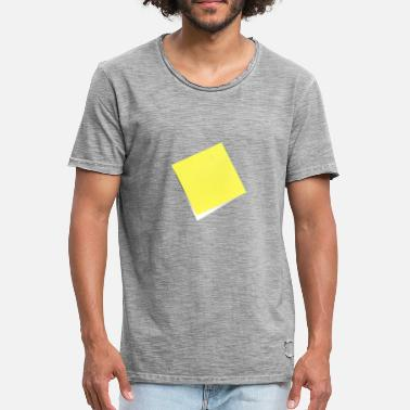 Note Clue yellow sticky note, sticky note, sticky note - Men's Vintage T-Shirt