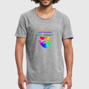 Daddy Gay Bearded Gay Daddy LGBT CSD - Men's Vintage T-Shirt
