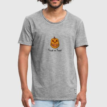 Trick or Treat, Trick or Treat, citrouille - T-shirt vintage Homme