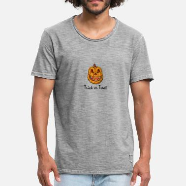 Trick Or Treat Trick or Treat, Trick or Treat, citrouille - T-shirt vintage Homme