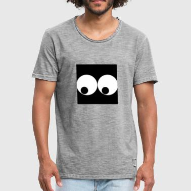 Peep peeping eyes - Men's Vintage T-Shirt