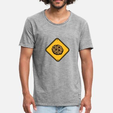 Panneau Attention Danger Attention attention signe attention zone danger danger - T-shirt vintage Homme