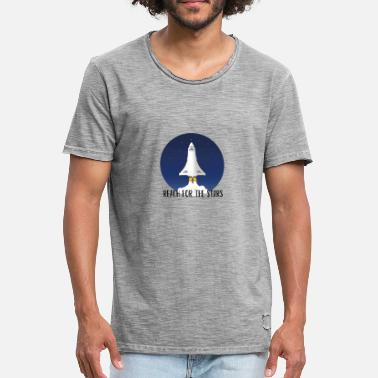 Tevoren Reach For The Stars - Mannen vintage T-shirt