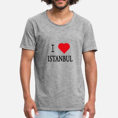 I Love Istanbul I Love Istanbul - Herre vintage T-shirt