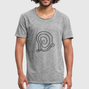snegl shell musling snegle slimy lille kri - Herre vintage T-shirt