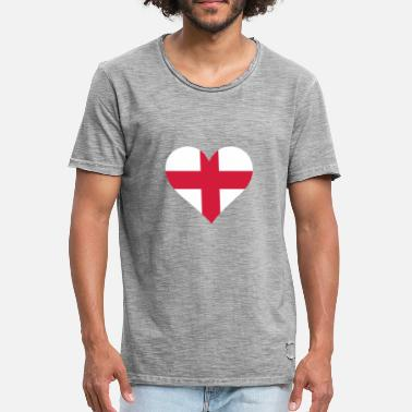 England Heart A Heart For England - Men's Vintage T-Shirt