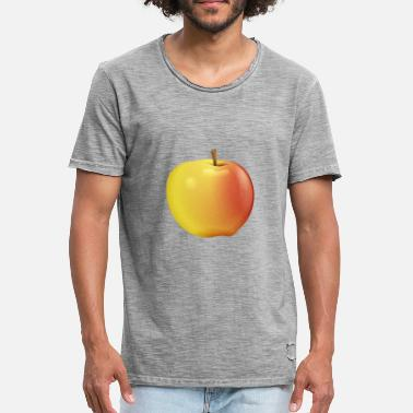 Apple apple fruit017 - T-shirt vintage Homme