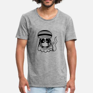 Joint Logo joint potholes stoned drugs smoking raggae j - Men's Vintage T-Shirt