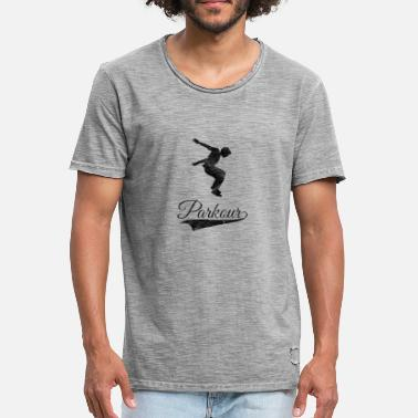 Sprong Parkour Freerunning Gift Le parcours - Mannen Vintage T-shirt