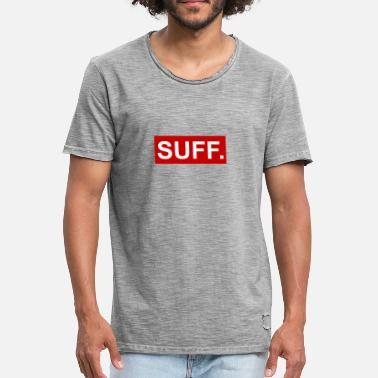 Suff cool SUFF rouge-blanc - T-shirt vintage Homme