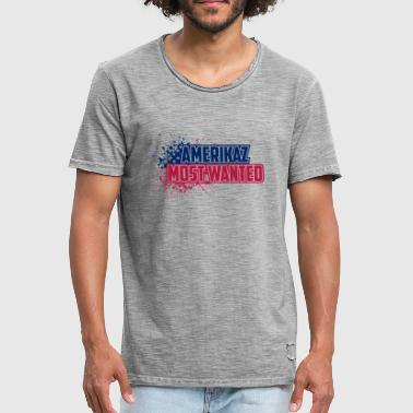 Amerikaz Most Wanted - Men's Vintage T-Shirt