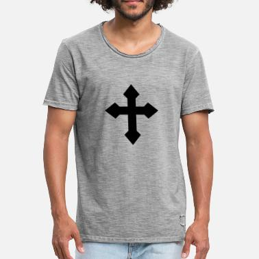 Methodist Cross Cross Tatta - Men's Vintage T-Shirt