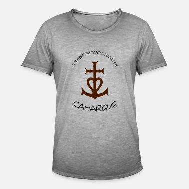 82a0e8e79371 Croix camargue  foi esperance charite T-shirt premium Homme ...