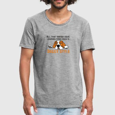 Doggy Style - Herre vintage T-shirt