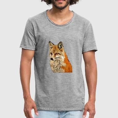 Vegan Fox Fox Comic Style - Men's Vintage T-Shirt