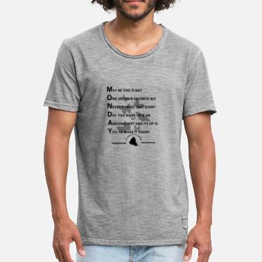 Monday Quote MONDAY - Men's Vintage T-Shirt