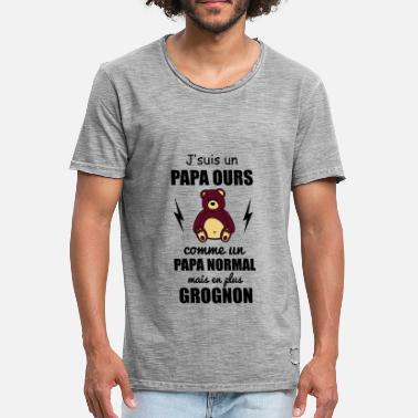 dd8276b80a863 T-shirts Papa Ours à commander en ligne