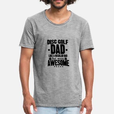 Disc Disc Golf Dad - Vintage-T-shirt herr