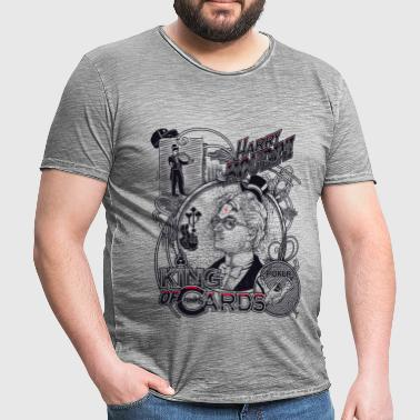 harry houdini poker - T-shirt vintage Homme