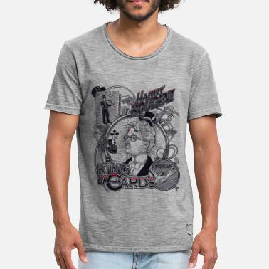 Retro Harry Houdini Poker - Männer Vintage T-Shirt
