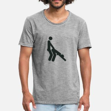 Doggystyle Position Doggystyle sex position (shotgun) - Men's Vintage T-Shirt