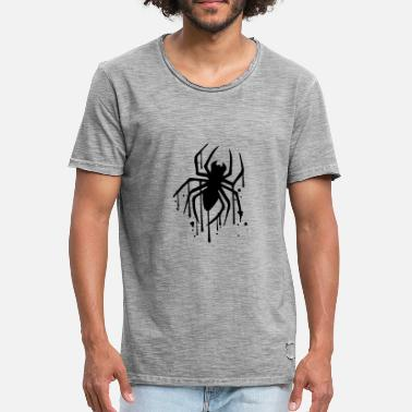 Spider drop graffiti spray stamp spider logo design - Men's Vintage T-Shirt